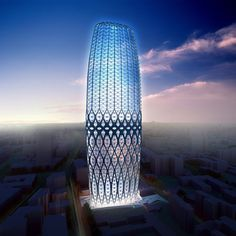 Zaha Hadid Architects have designed a high-rise building for the center of Bucharest, Romania, which has a structural, lattice façade. #architecture ☮k☮