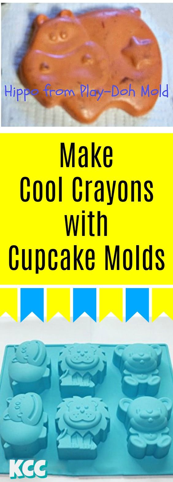 How to make COOL Crayon Wax Melts with Cupcake, Soap, and Play-Doh Molds. Melted Crayons #kidscreativechaos