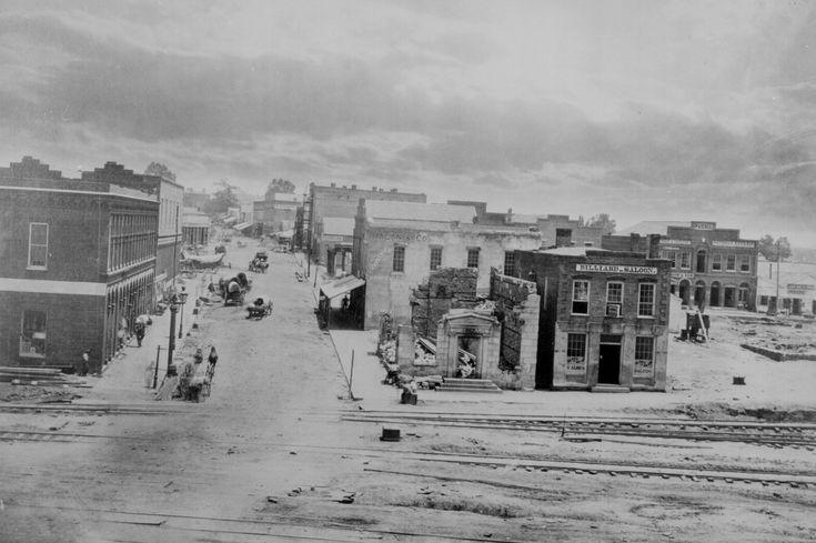 Peachtree Street, Atlanta, Georgia, by George Barnard, 1864