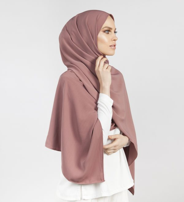 Crushed Rose Soft Touch Hijab - £15.90 : Inayah, Islamic Clothing & Fashion, Abayas, Jilbabs, Hijabs, Jalabiyas & Hijab Pins