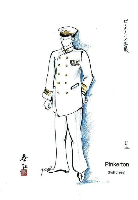 Costume sketch for Pinkerton (2)