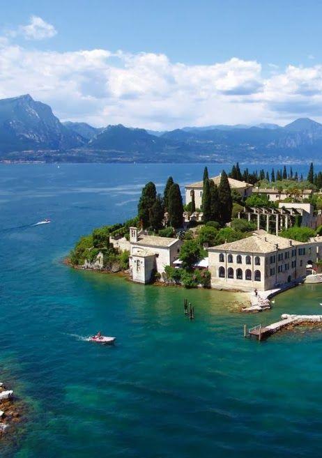 Lake Garda lake in Italy:, province of Brescia Lombardy