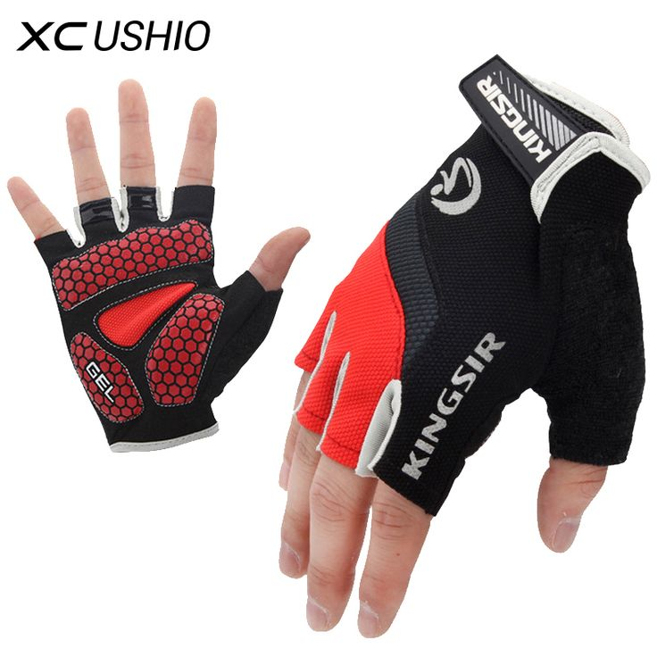 Cycling Gloves  1 Pair Outdoor Sport Gloves Summer Cycling Bike Bicycle Riding Gym Fitness Half Finger Gloves Shockproof Mittens S/M/L/XL/XXL