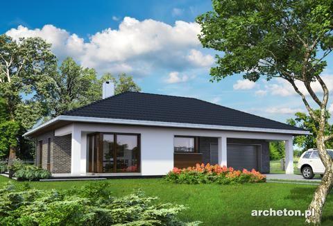 Projekt domu Tamara - atrakcyjny i przestronny dom parterowy beton komórkowy - Archeton.pl