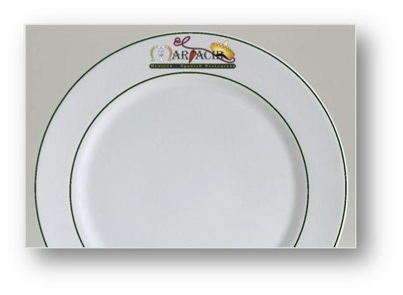 di8nnerware with logo   custom dinner plates   Corona Hotelware Blog