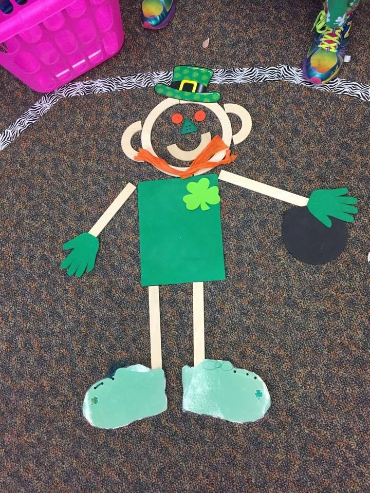 Happy St. Patrick's Day Mat Man! — at Children's Workshop Preschool.