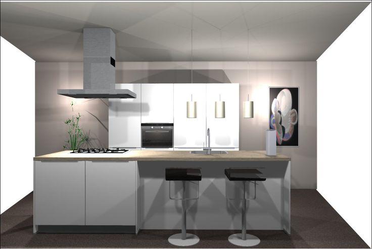 Een keuken met kookeiland is een veel gekozen keukenopstelling bekijk de 25 voorbeelden van - Grote keuken met kookeiland ...