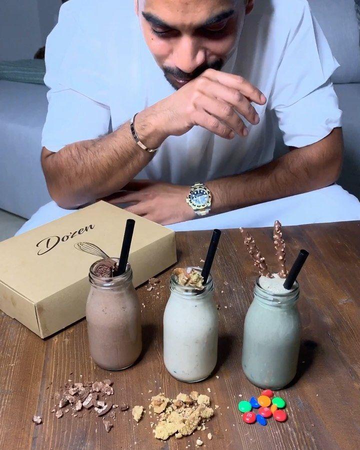 بدر الشايجي On Instagram Milk Shake 6bgat Chef Bjs الطريقه الخلطه الاولى كوب حليب سكوب برد فانيلا ٤ حبات كوكيز كندر من Dozen Kwt ثلج