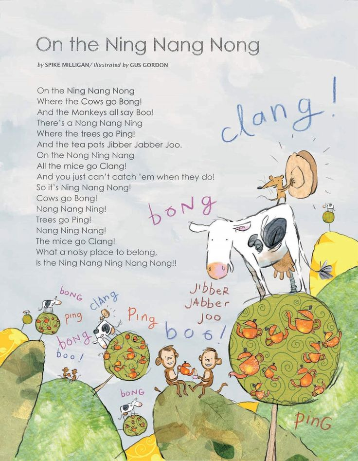 On the ning nang nong, my favourite Spike Milligan nonsense poem.
