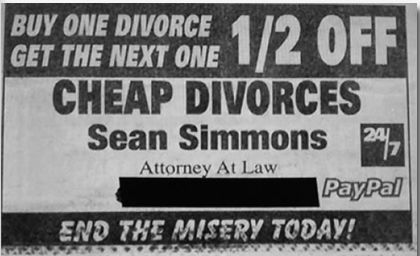 Cheap divorce lawyer.