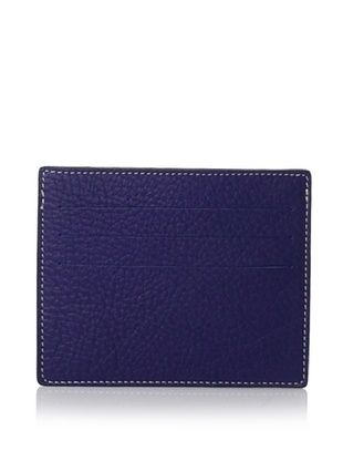 Leone Braconi Men's Card Holder, Sapphire, One Size