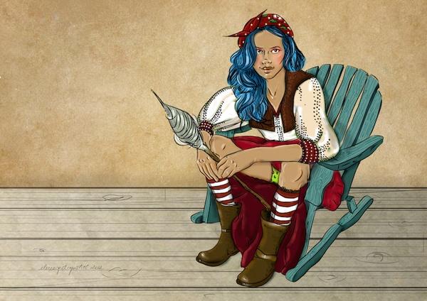 Fata de la tara by Elena-Greta Apostol, via Behance