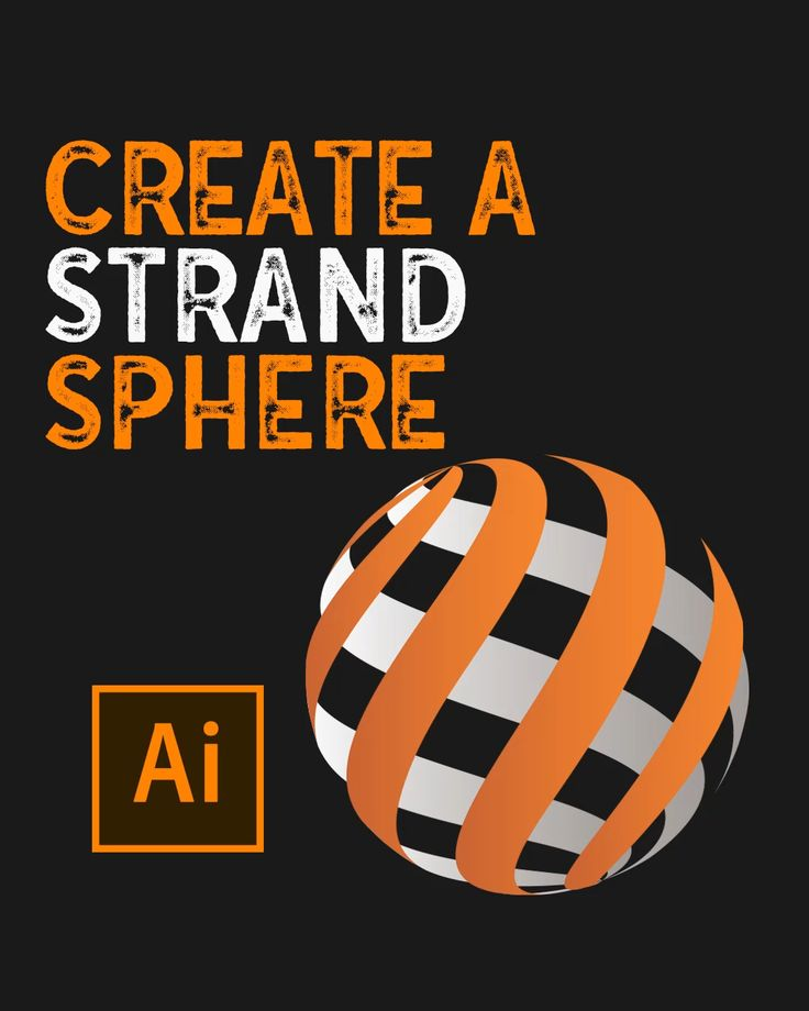 How to create strand sphere in illustrator video in 2021