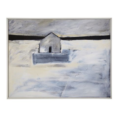RETREAT From a series of five paintings entitled 'Remote' by artist Ben Lowe, this peaceful picture was the result of an escape from the Big Smoke to the countryside. We've got these prints in our homes and can vouch for just what these do for a room.
