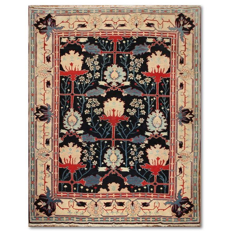 9x12 rare find william morris arts u0026 crafts handmade real turkish area rug wool