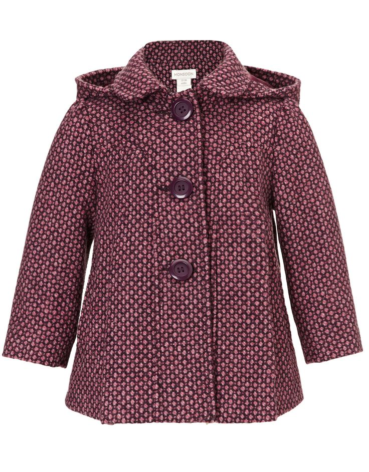 Baby Mimi Spot Coat | Purple | Monsoon