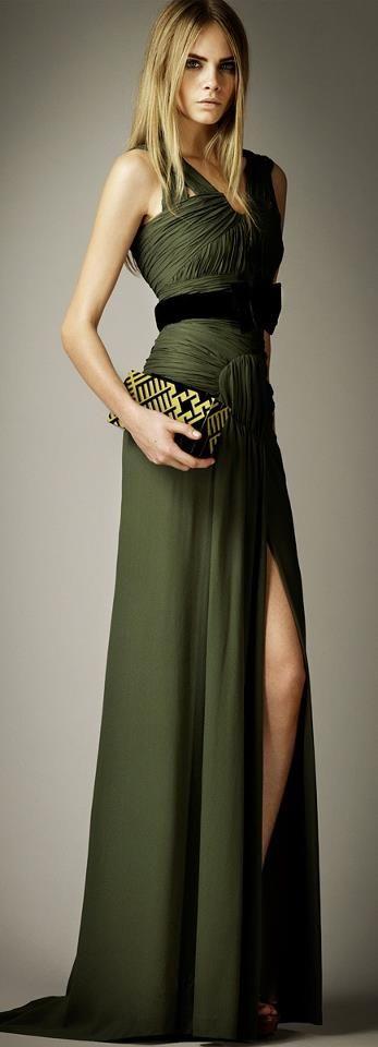 Burberry Silk draped dress - Cara Delevigne