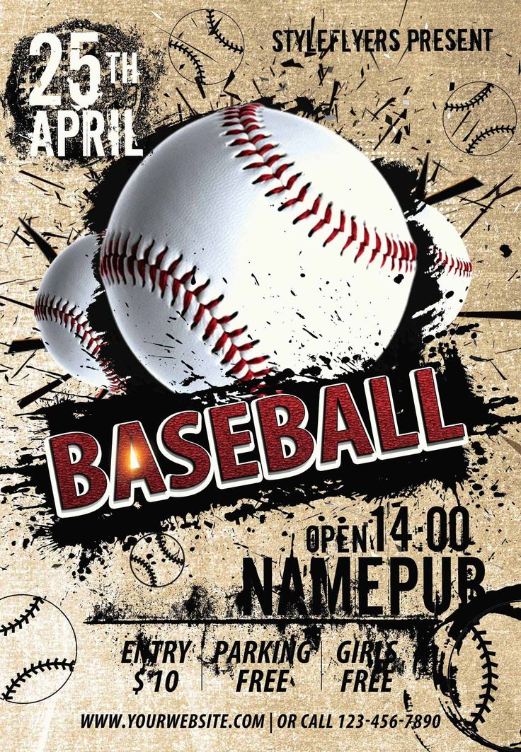 1042 best Flyers images on Pinterest Psd flyer templates - baseball flyer