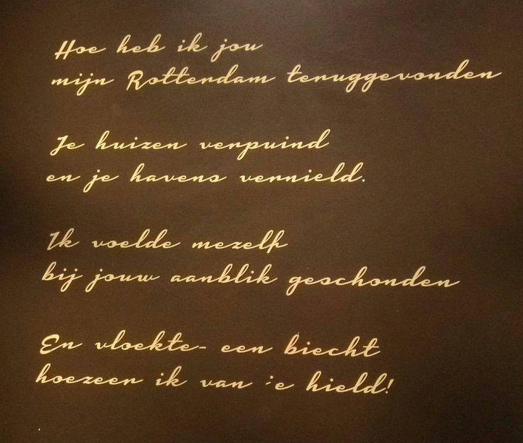 Gedicht over mijn #Rotterdam #poetry