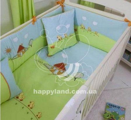 Бампер для детской кроватки Funnababy Farm