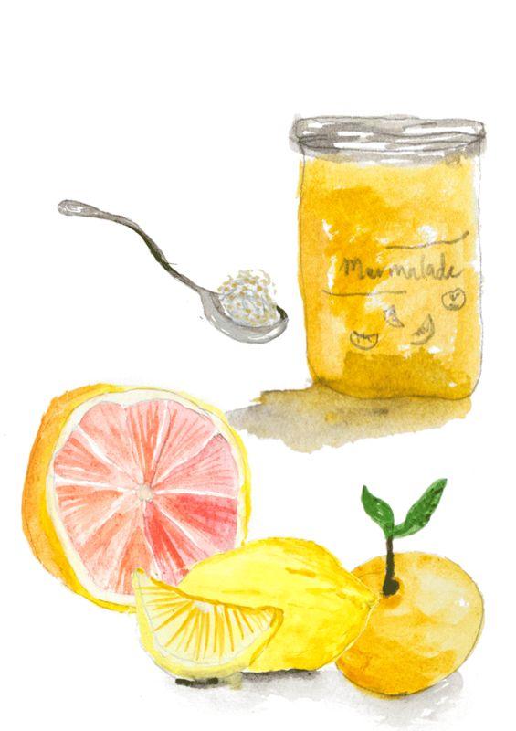 Family Recipes | Conteu Magazine  | illustration |  jam | peach | recipe | grandma | marmalade