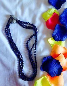 Collana Donna Eff. Brillante Blu Elettrico Elegance ^.^ | eBay