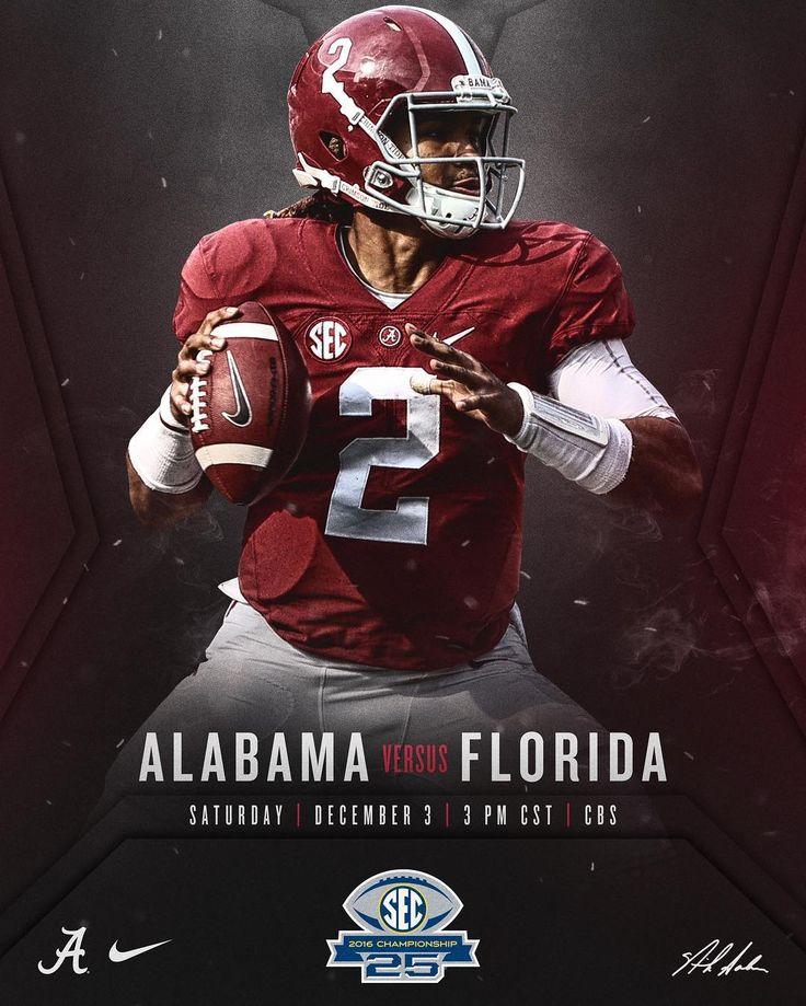 Jalen Hurts and Alabama vs Florida in the SEC Championship 2016 @crimsontide_fb #Alabama #RollTide #Bama #BuiltByBama #RTR #CrimsonTide #RammerJammer