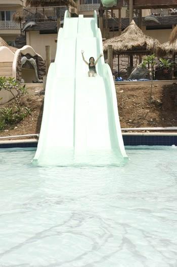 Waterpark slide at Hawaii a club bali resort