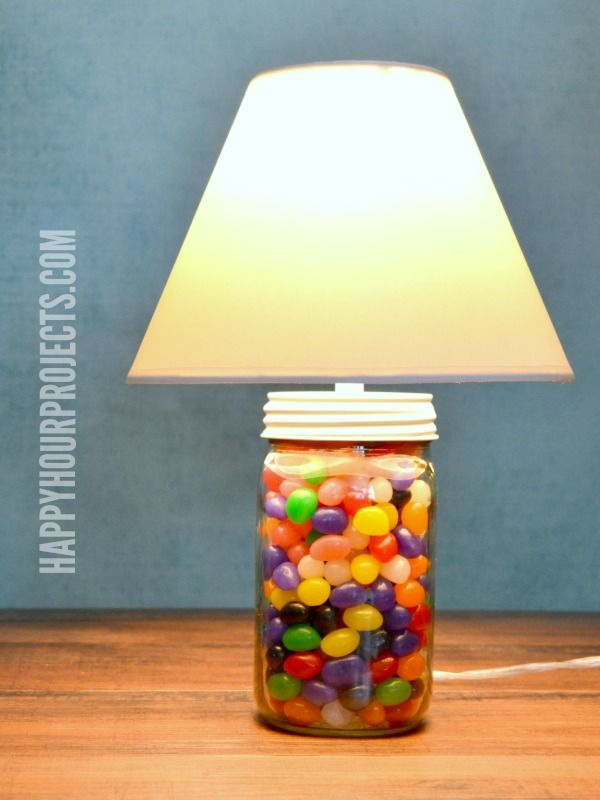2 Minute Mason Jar Jellybean Lamp Easy Easter Craft At Www