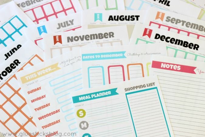 Free Printable 2015 Planner Pages!