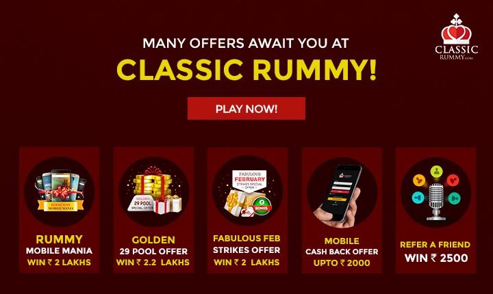 Many Offers await you at classicrummy! Play Rummy Now!  #rummy #classicrummy #playrummy #onlinerummy #rummyrules #Indianrummy