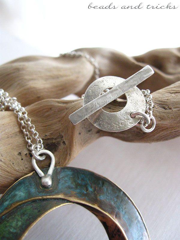 Chiusura e agganci del pendente in argento fatti a mano - Beads and Tricks