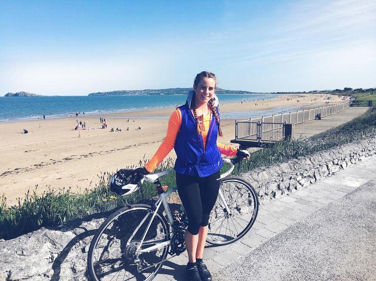 What beautiful day for a cycle ☀️ I cycled Clontarf, Howth hill, Malahide and Portmarnock  My last spin before my big 700km around Ireland next week, in aid of Aware. #5CC  #cycle #cyclist #irishfitfam #fitfam #summer #dublin #ireland #lovindublin #beach
