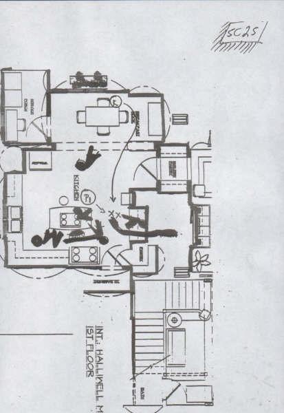 Casa halliwell plano planta baja 2 charmed quinta for Charmed house blueprints