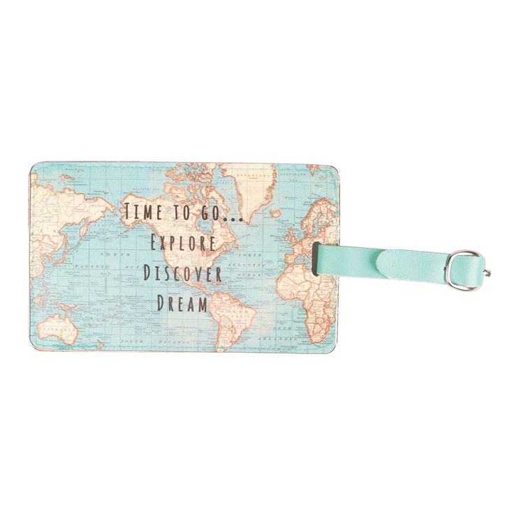 155 best world images on pinterest travel luggage packing and sass belle vintage map luggage tag travel id holiday case name address label gumiabroncs Images