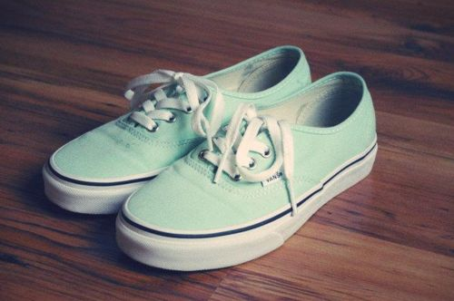 I prefer these mint vans better. The other ones are too bright