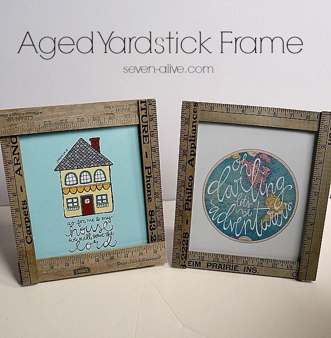 Aged Yardstick Picture Frames. Easy CraftsKid CraftsDiy Craft ...