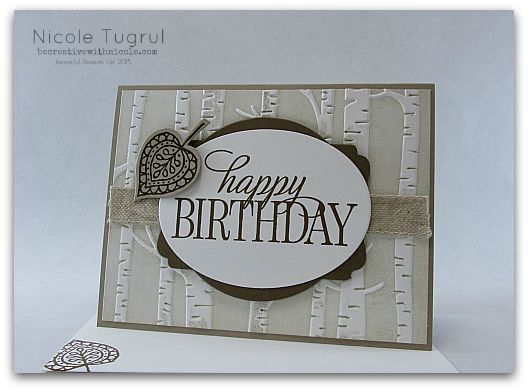 17 Sep 2015 Be Creative With Nicole: appy Embossing Folder Technique   Masculine birthday; Birthday, Everyone, Woodland EF