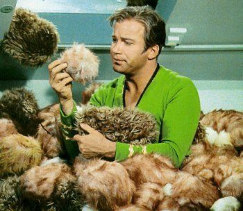 "William Shatner in ""The Trouble with Tribbles"" - My favorite Star Trek episode EVER EVER of ANY generation!!!"