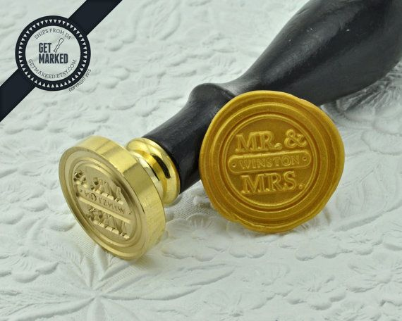British Clic Customized Wedding Wax Seal Stamp By Get Marked Personalize Your