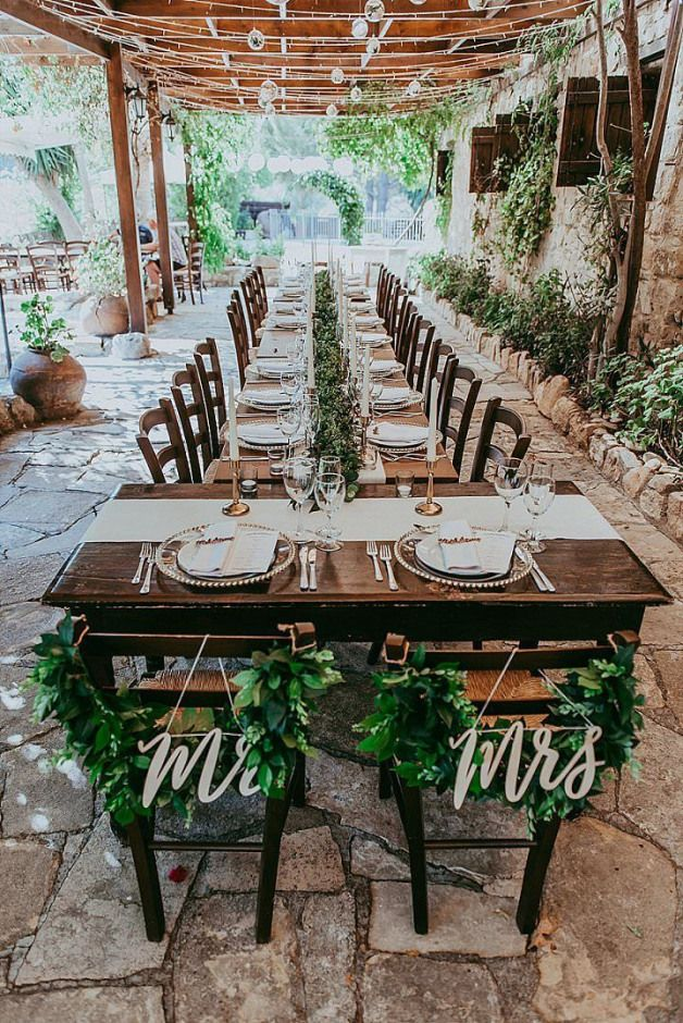 J Adore Cette Longue Table Est L Esprit Nature De Cette Belle Deco Hairstylestheme Hairstyles Th Small Wedding Receptions Wedding Decorations Small Wedding
