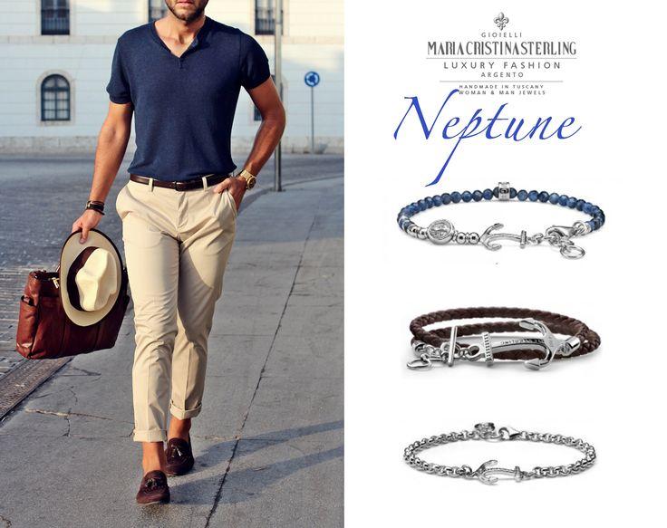 NEPTUNE by MariaCristinaSterling http://shop.mariacristinasterling.it/categoria-prodotto/gioielli_uomo/collezione_neptune_man/