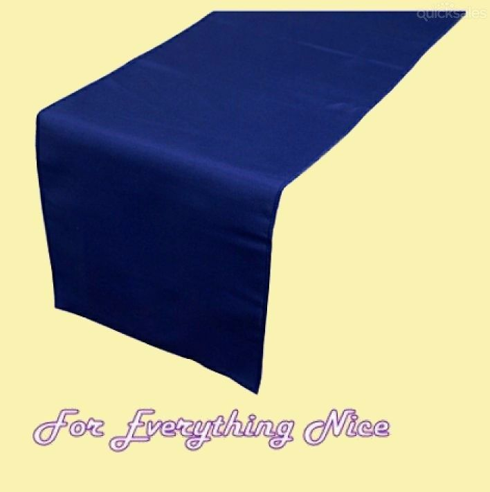 Navy Blue Polyester Wedding Table Runners Decorations x 5 For Hire by J7339 - $30.00