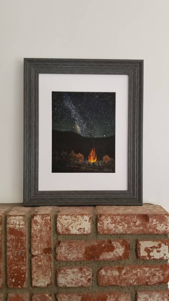 NIGHT SKY PAINTING Original Scenic Painting Milky way