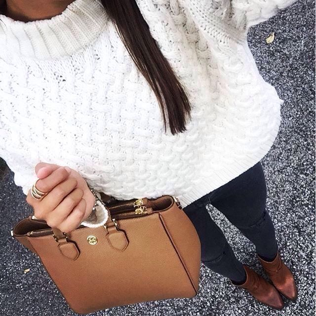 Oversized knit sweater.