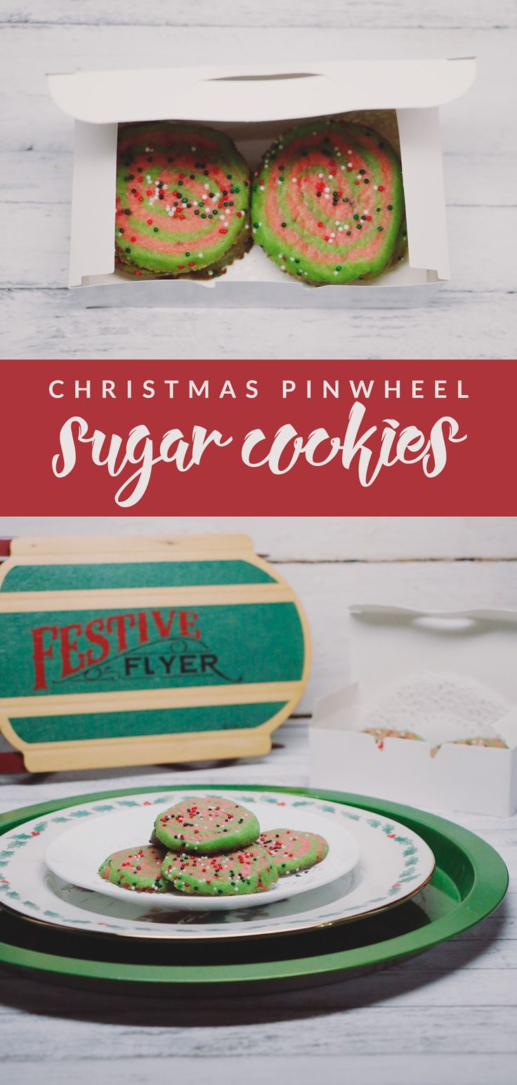 Sugar cookies don't have to be boring! This Pinwheel Sugar Cookie Recipe is perfect for the holidays and spreading a little bit of cheer!