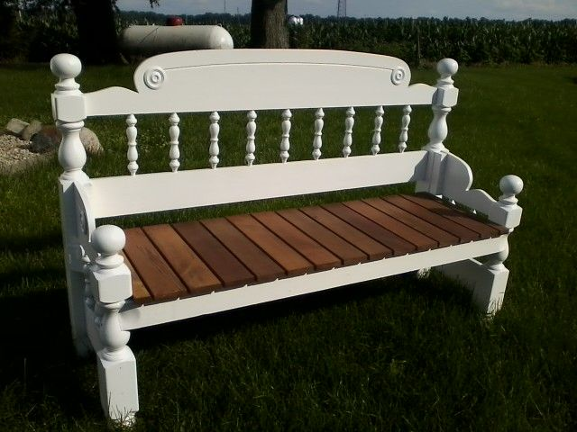 handmade repurposed headboard footboard bench re purpose recycle pinterest benches and