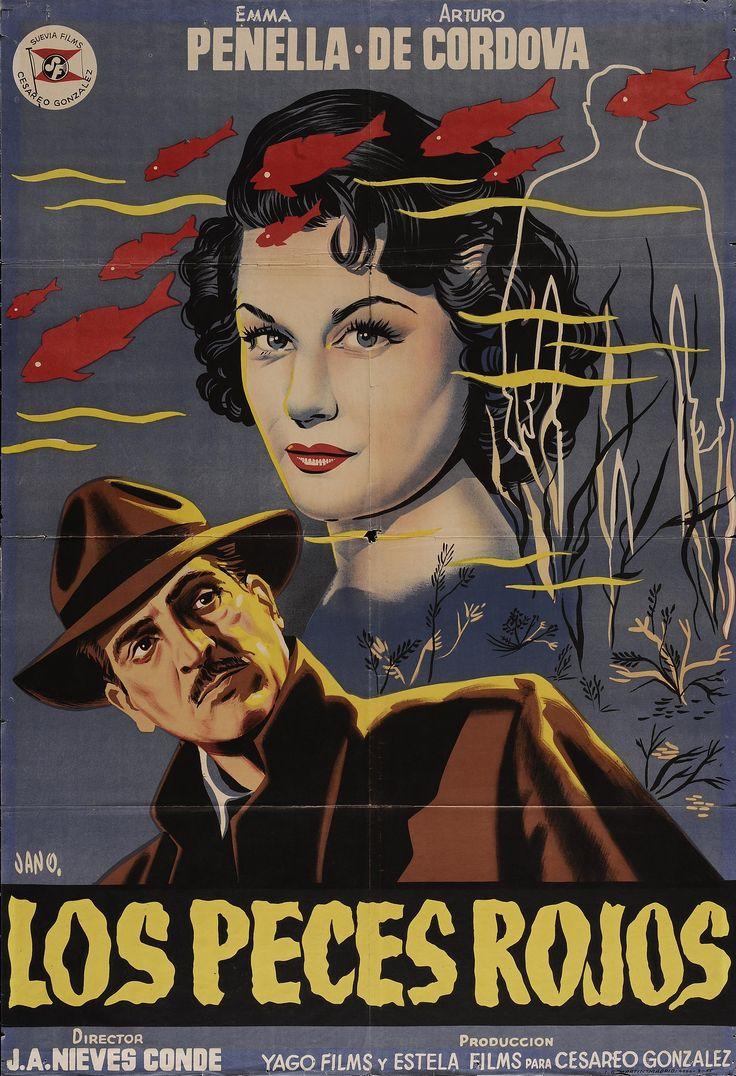 """""""Los peces rojos"""", José Antonio Nieves Conde, 1955. Con Emma Penella, Arturo de Córdova, Pilar Soler, Félix Dafauce... http://estelafilms.com/pelicula.php?url=los-peces-rojos"""