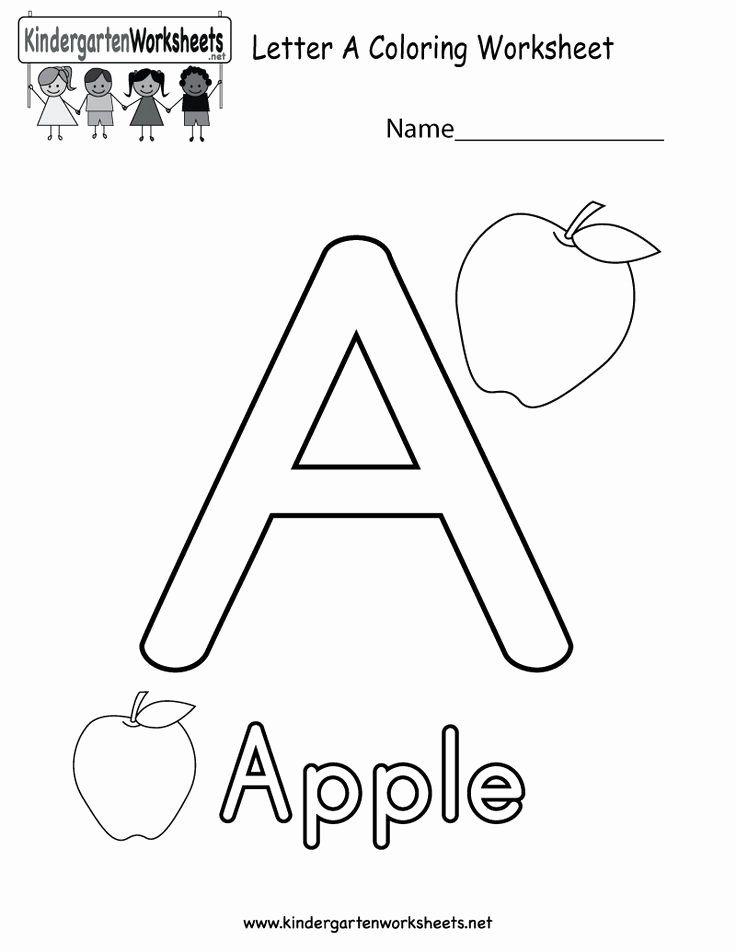 Alphabet Coloring Worksheets For Kindergarten In 2020 Alphabet