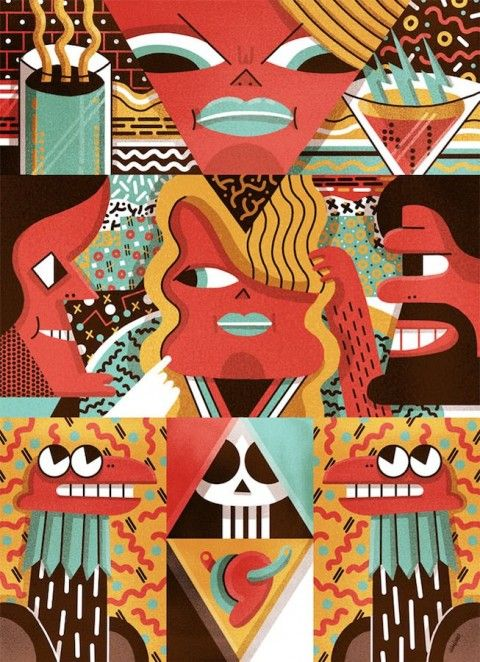 Juan Díaz- Faes was born in Oviedo, he lives currently in Madrid where he works as an illustrator since 2011. He also has a PhD on the Creative Process.